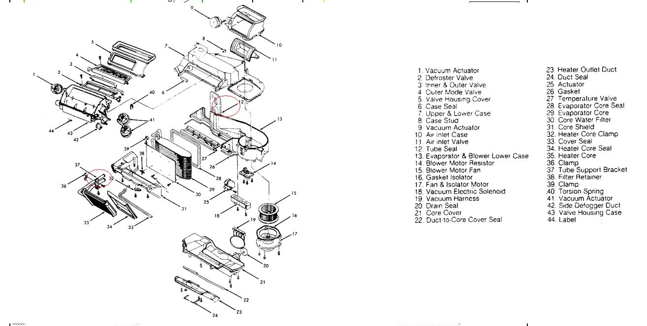 1990 olds cutlass supreme international  heating unit