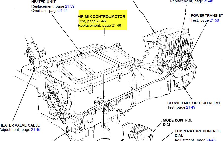 service manual  how to replace hvac door actuator 1995