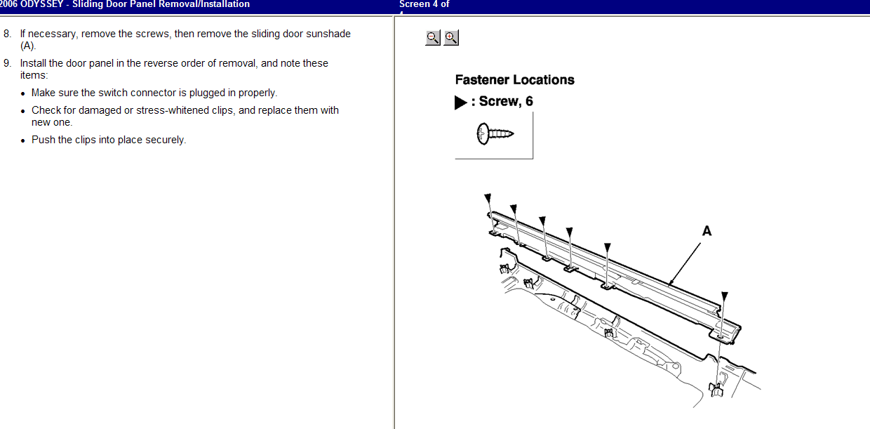 How to install a control unit for the left power sliding for 06 honda odyssey sliding door