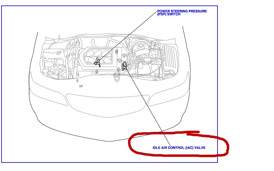 Fuel Pressure Regulator likewise Honda Accord EGR Valve Location furthermore Honda D16Y8 Engine furthermore 2006 Ford F 150 4 6 Belt Diagram likewise 2005 Kia Sorento Coolant Hose Diagram. on iac solenoid wiring diagram