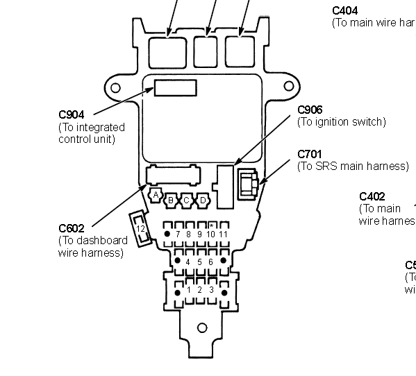 honda civic fuse box diagram 1992 prelude  honda  free