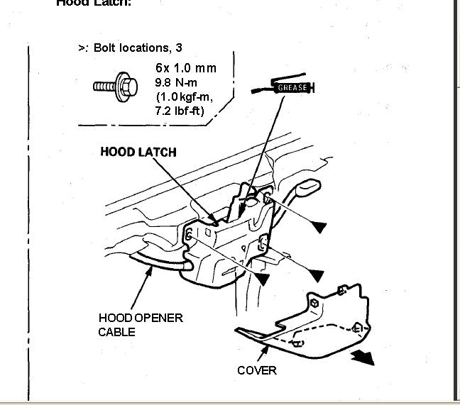 honda civic trunk latch diagram