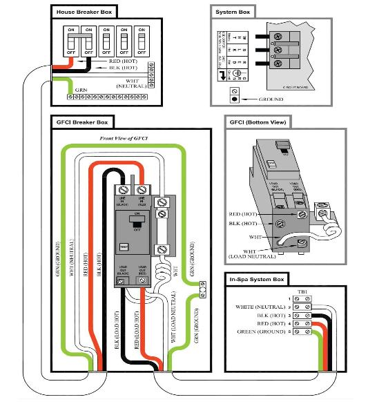 i have a used hot tub that i got from my parents (working ... hot tub gfci wiring diagram