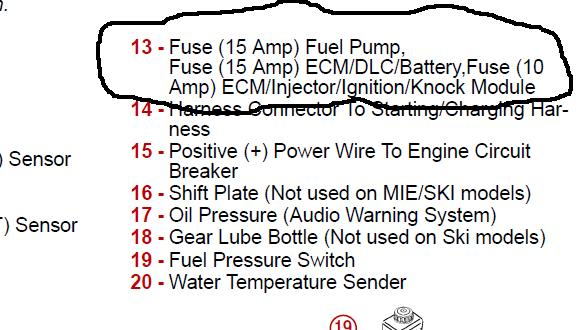 i have a mercury 350 mag mpi 2003 engine which has no spark graphic graphic
