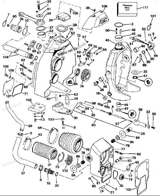 1993 mercruiser exhaust parts diagram  diagram  auto