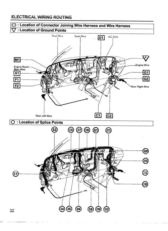 1996 toyota camry door wiring harness 1996 wiring diagrams online