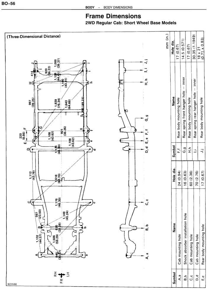 1987 toyota pickup frame diagram  1987  free engine image
