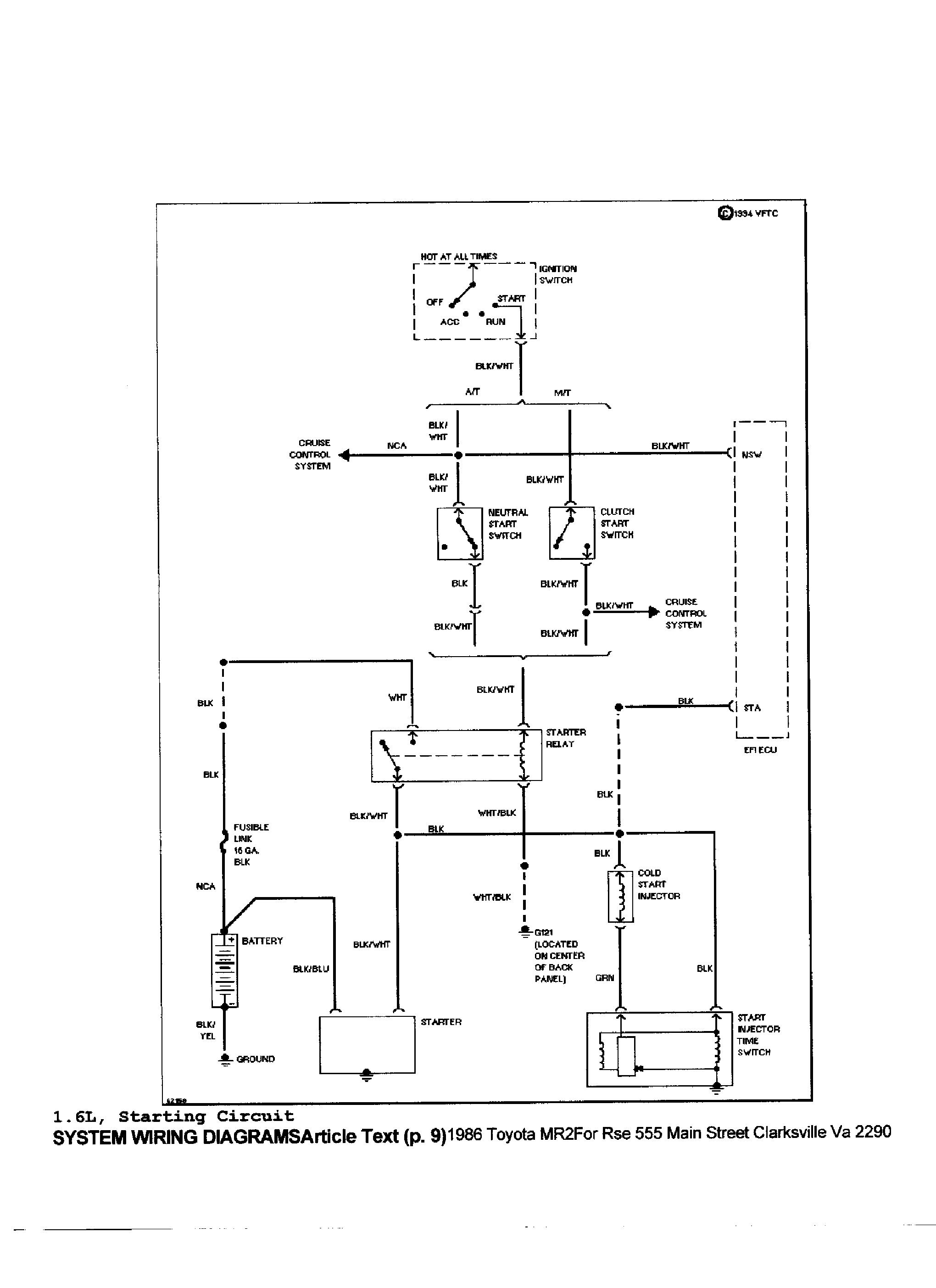 Toyota Mr2 Wiring Another Blog About Diagram 92 Camry Fuse Box 1986 Get Free Image 1987 1985