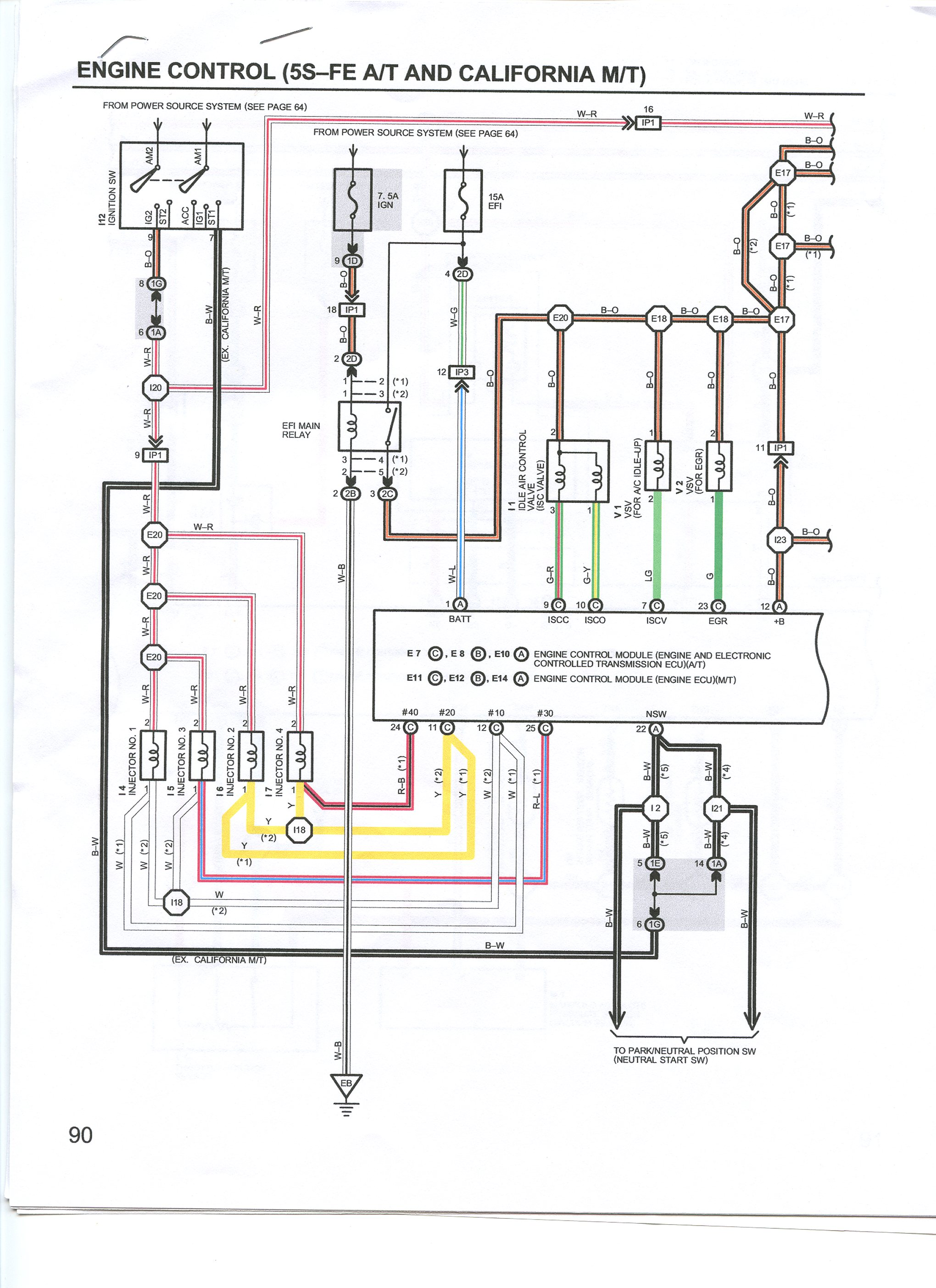 1987 Toyota 22re Fuel System Diagrams Free Download Wiring Diagrams