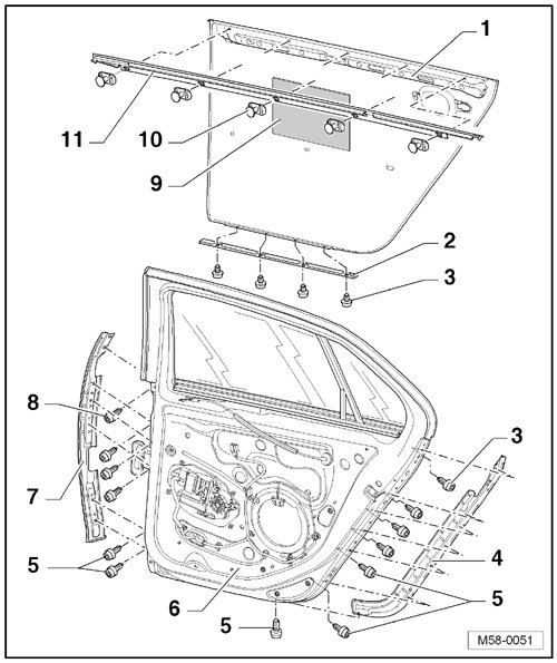 2006 silverado rear door latch diagram
