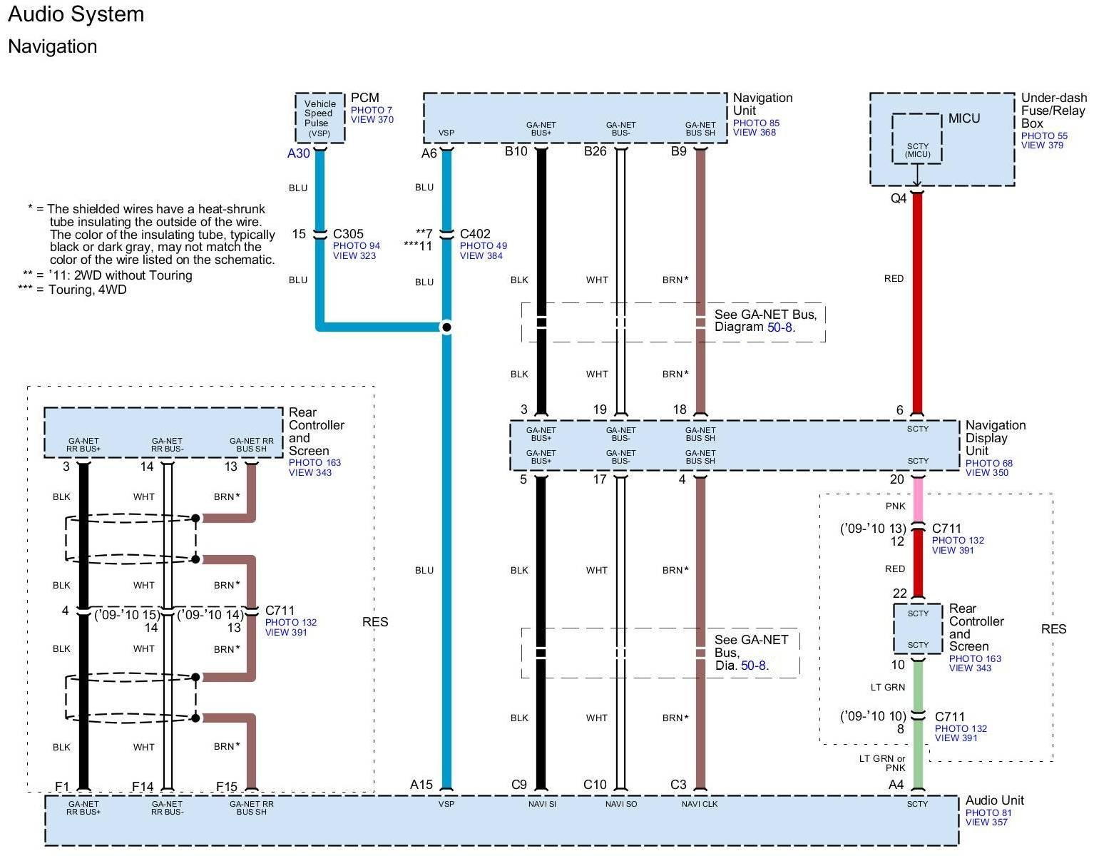 2012 honda pilot wiring diagrams wiring harness wire color ex nav