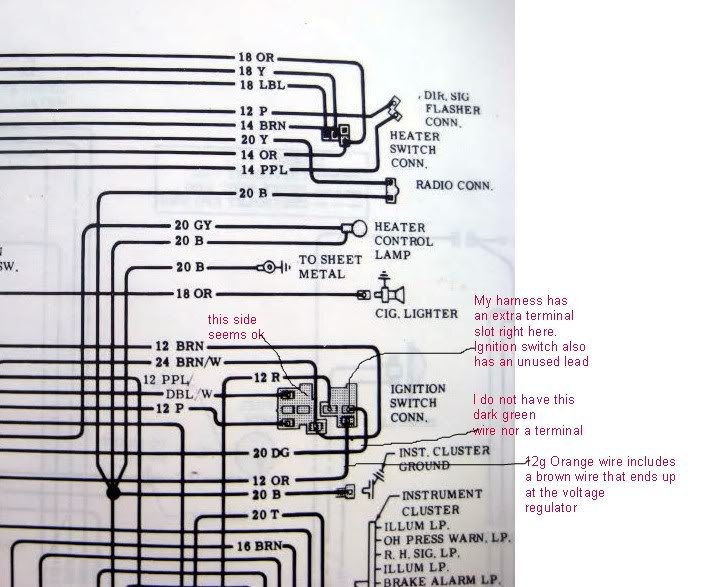1975 chevy wire diagram can someone tell me where these wires connect to the ... #11