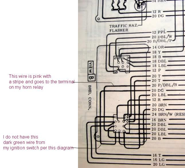 1979 chevy ignition switch wiring diagram can someone tell me where these wires connect to the ... #7