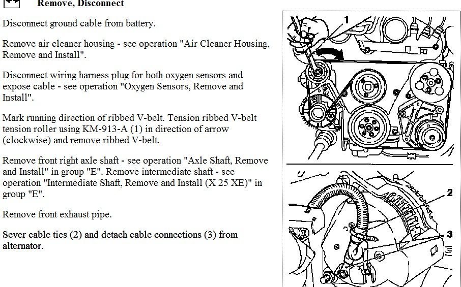 How Do You Take An Alternator Out Of A Vauxhall Vectra 2 5