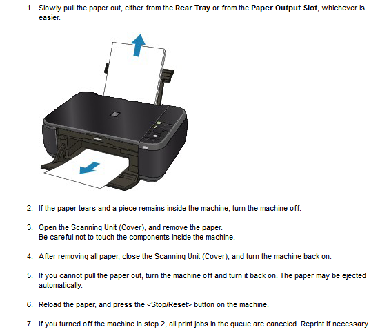 how to fix a jammed printer