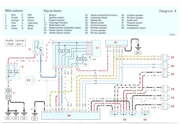 fiat uno electrical wiring diagram fiat uno fuse box diagram i just bought a fiat punto the front left speakers are ... #13