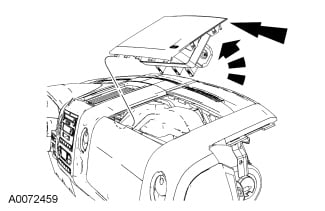 service manual passenger side airbag removal