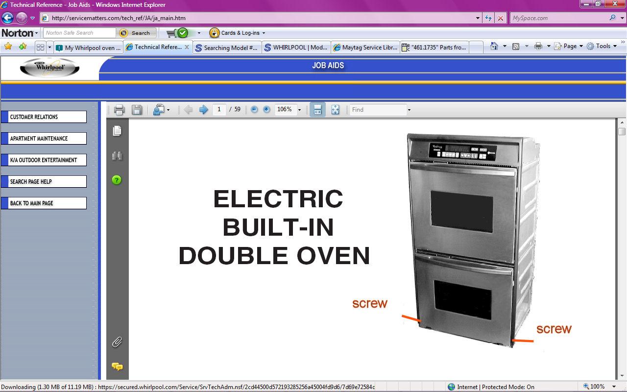 Whirlpool Oven Has No Power And Door Is Locked