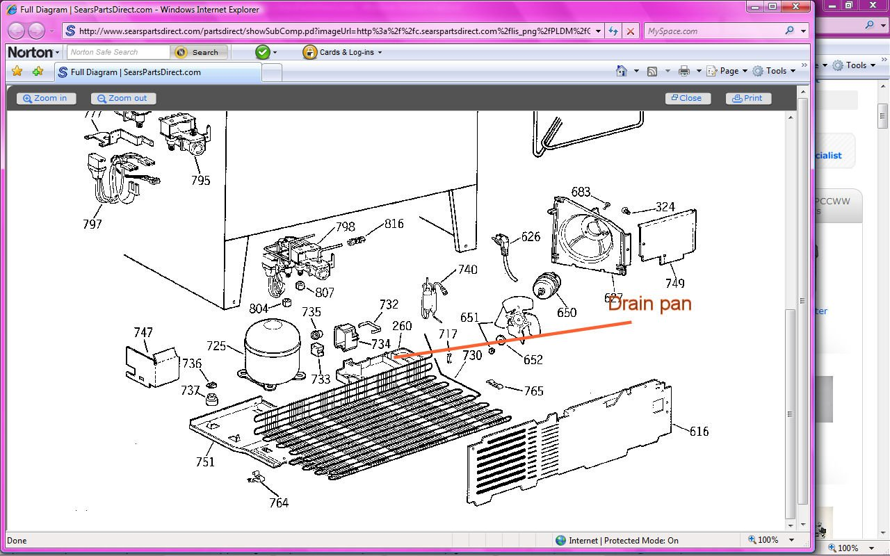 Ge Profile Side By Refrigerator Drain Diagram Best Secret Appliances Wiring For Monogram Refrigerators Parts Counter Depth