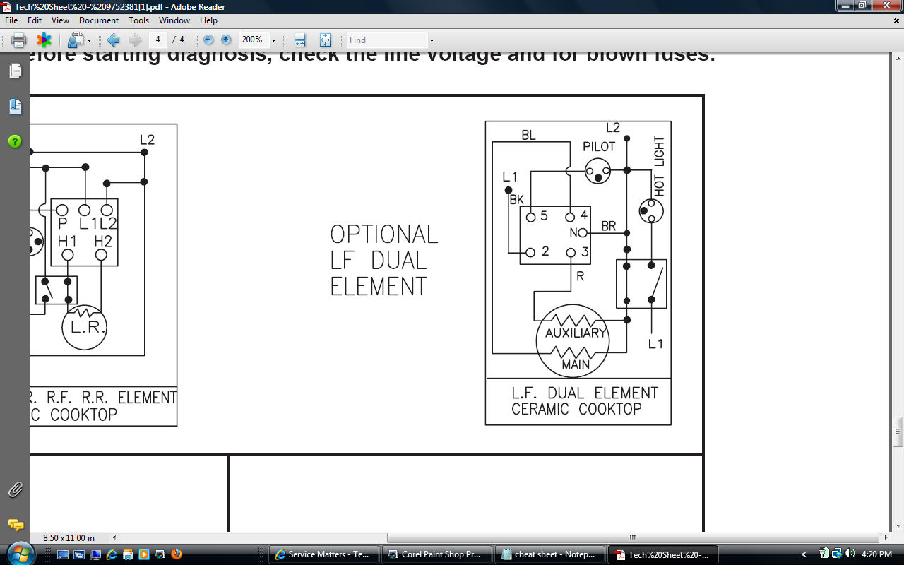 the dual element on the stovetop of my kitchenaid range ykerc500ew1 dual switch wire diagram per tech sheet graphic