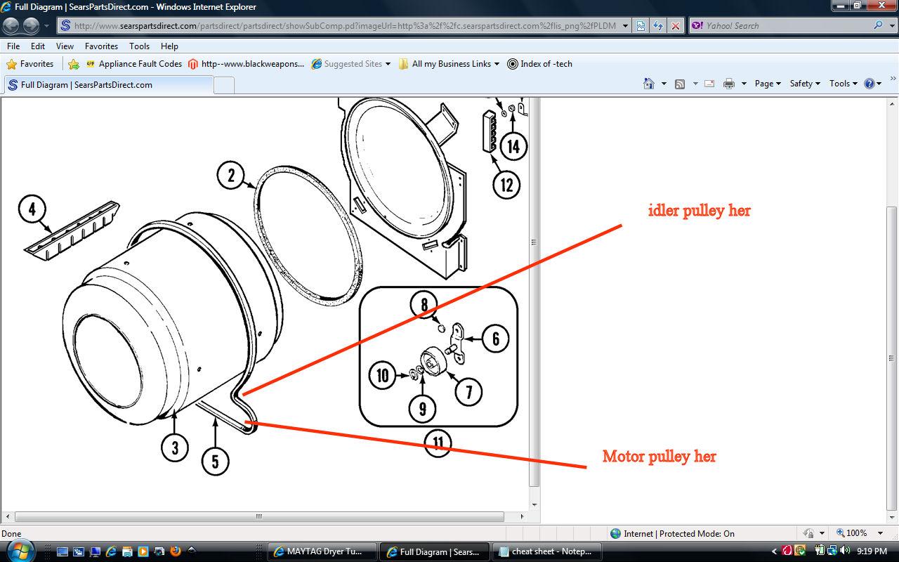 How Does Belt Go On A Maytag Dryer Model Pyg2300aww