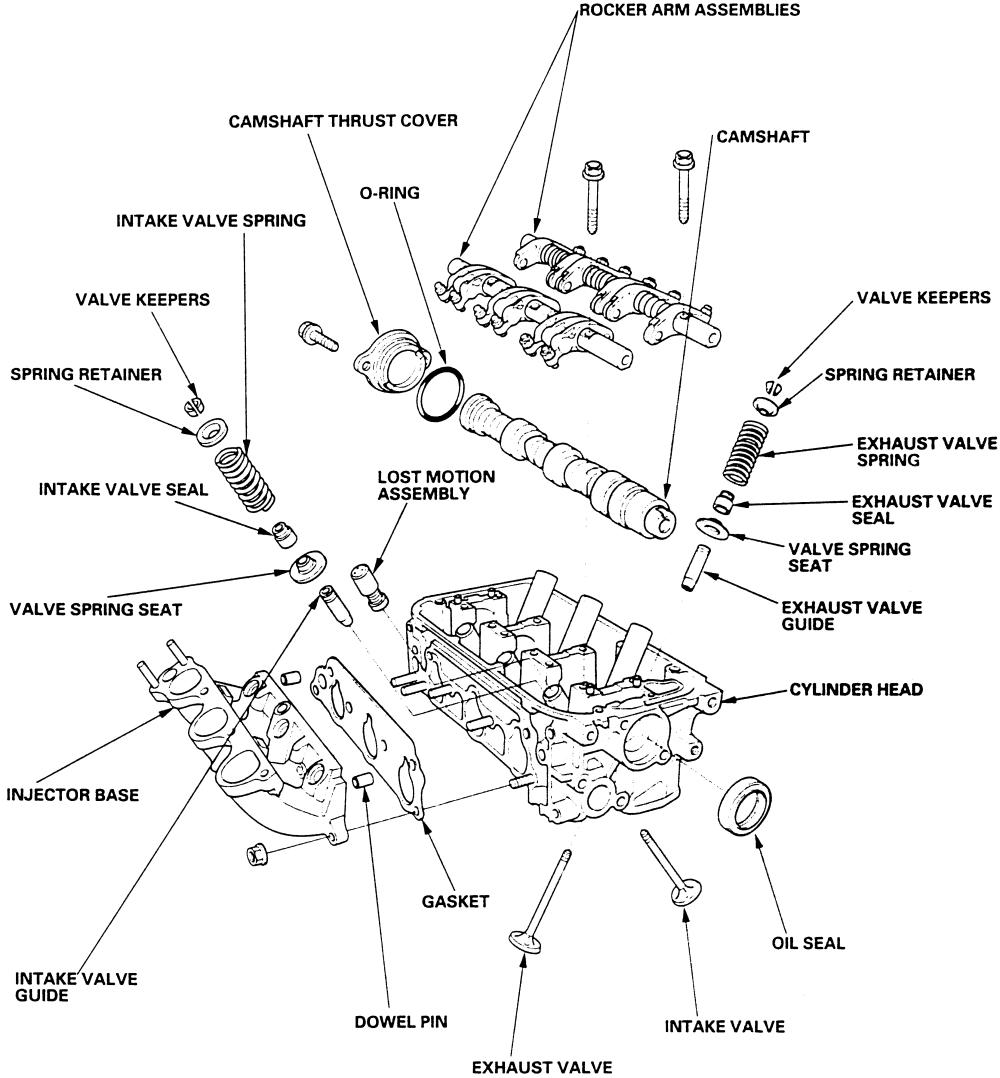 honda v6 valve train diagram