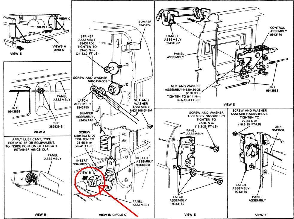 Ford F150 Tailgate Hinge Repair