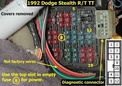 Diagram Engine 2000 Mitsubishi Galant 4 Cycler additionally Dodge Stealth Tcm Location likewise 89 Dodge Shadow Wiring Diagram besides Where Does Power Tr Unit Mount Engine 524079 also . on mitsubishi 3000gt fuse box diagram
