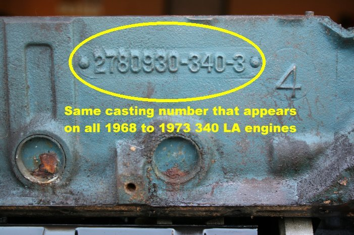 46th9 Dodge When Looking Block Casting Number Truck
