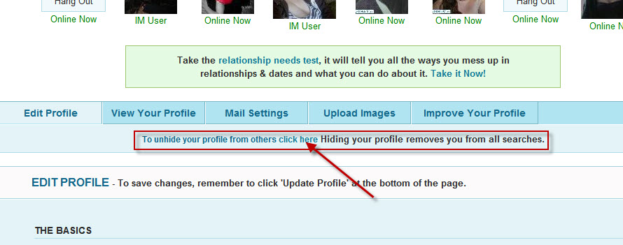hidden profile on pof