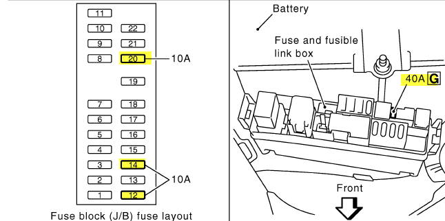 My 2004 350z wouldnt start I replaced the battery and now the – In 2004 350z Fuse Box