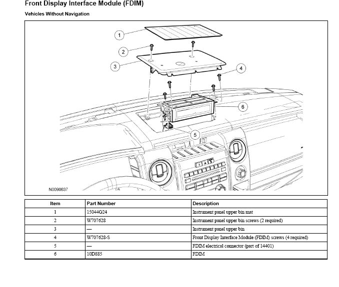 2011 Ford F150 Audio Control Module Location