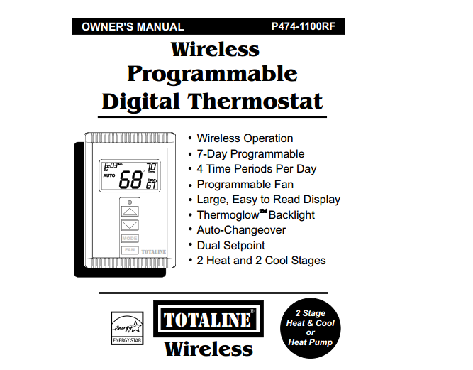 no matter how many times we reset our wireless total line thermostat it keeps coming on at 6 30