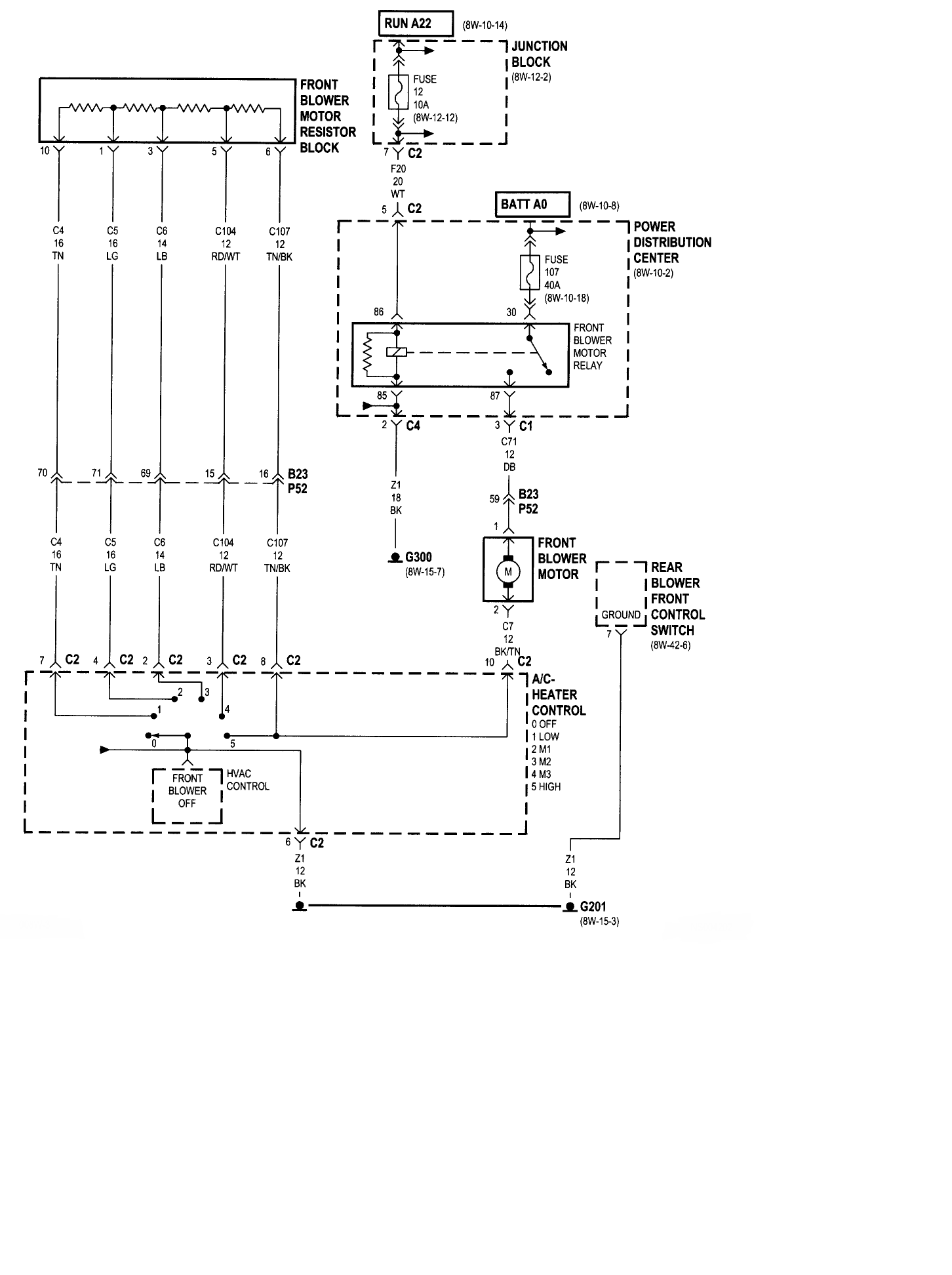 1999 Grand Voyager Fuse Box Diagram