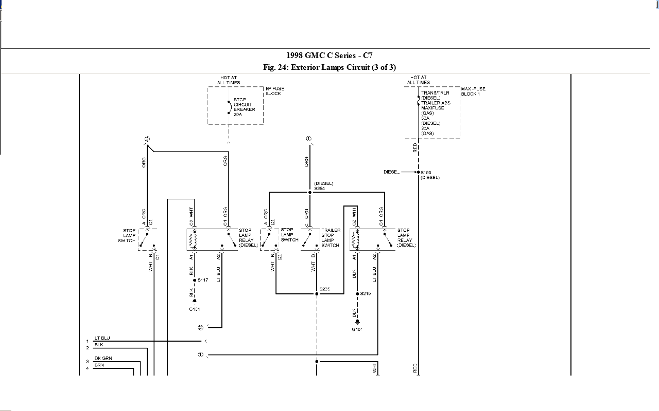 Gmc Ke Light Wiring Diagram Another Blog About C7500 K1500