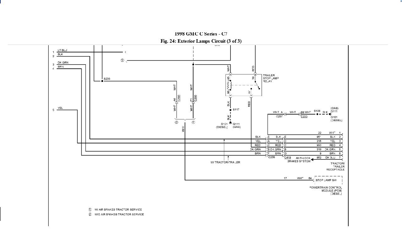 2004 Gmc T7500 Chis Wiring Diagrams C8500 Diagram Typhoon T On Topkick