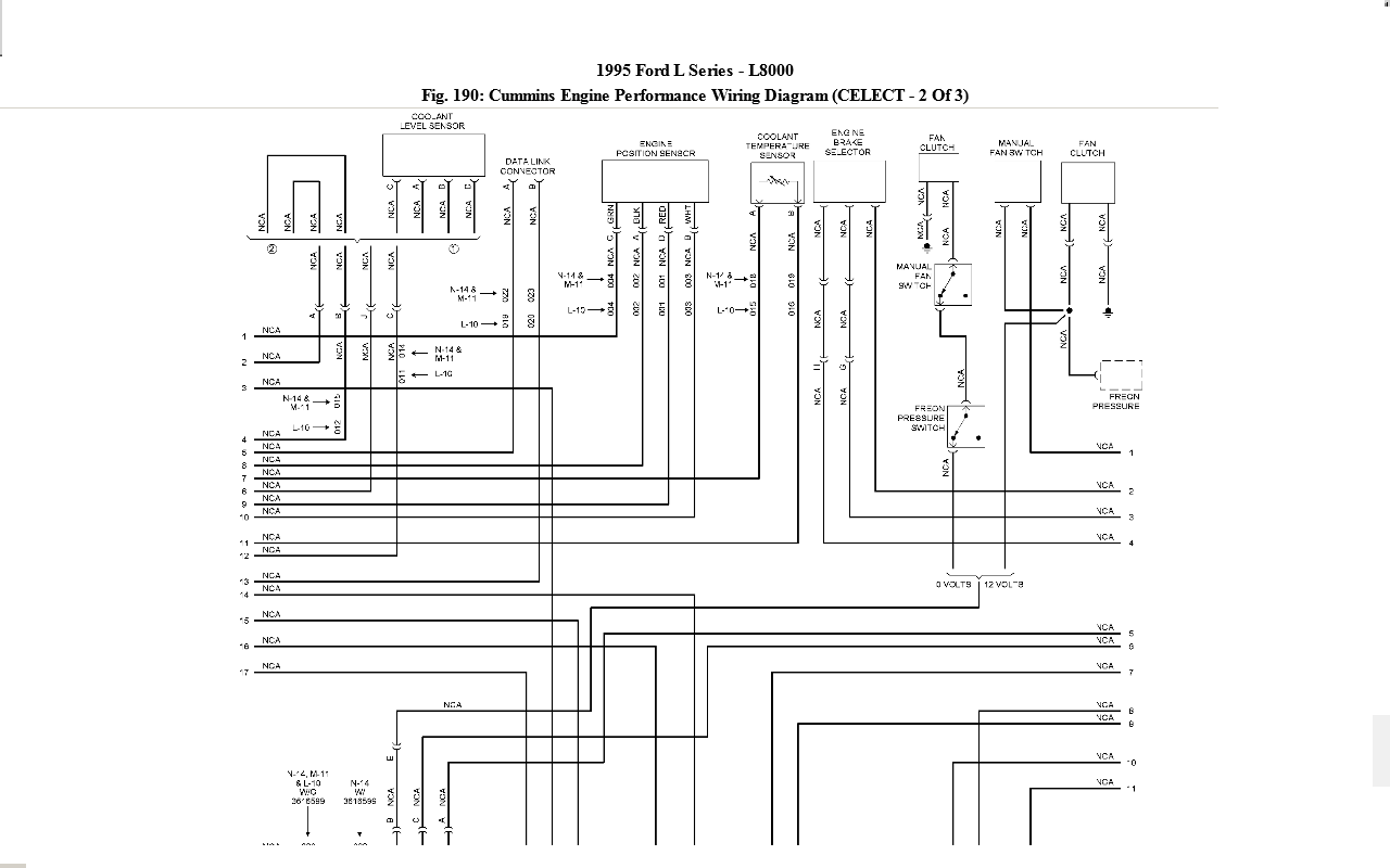 looking for a wiring diagram for a ford l8000 1995 with a cummins full size image