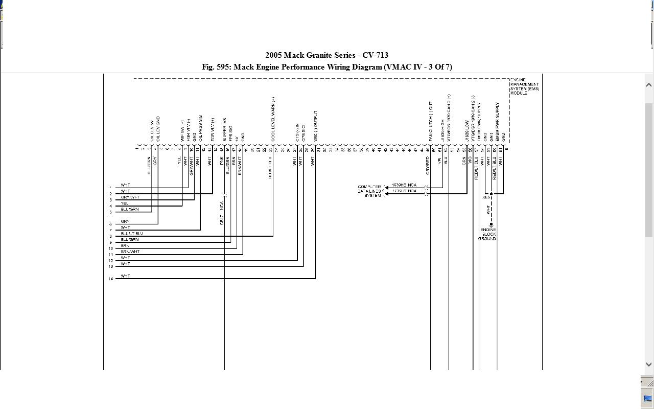 Mack Wiring Schematics Radio Wiring Diagram \u2022 Model Mack Trucks CV Mack  Granite Cv713 Wiring Schematic