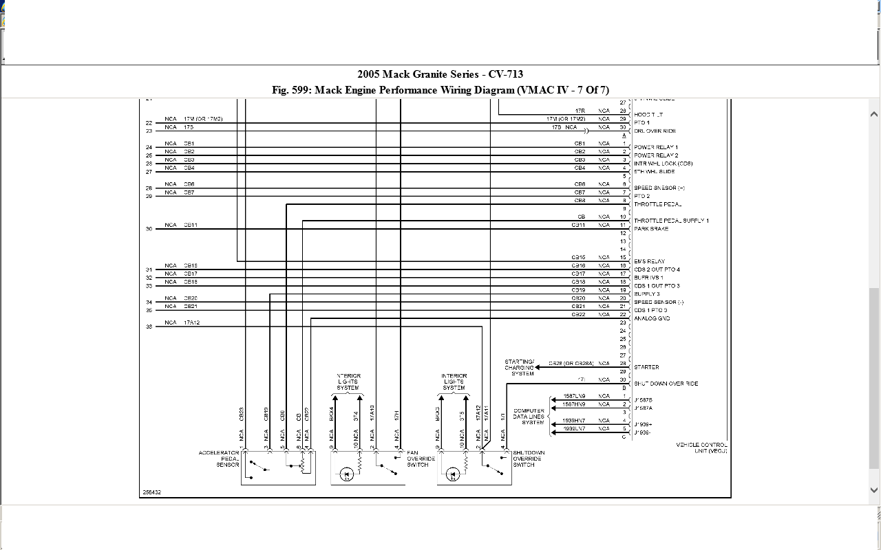 mack mr688s fuse diagram