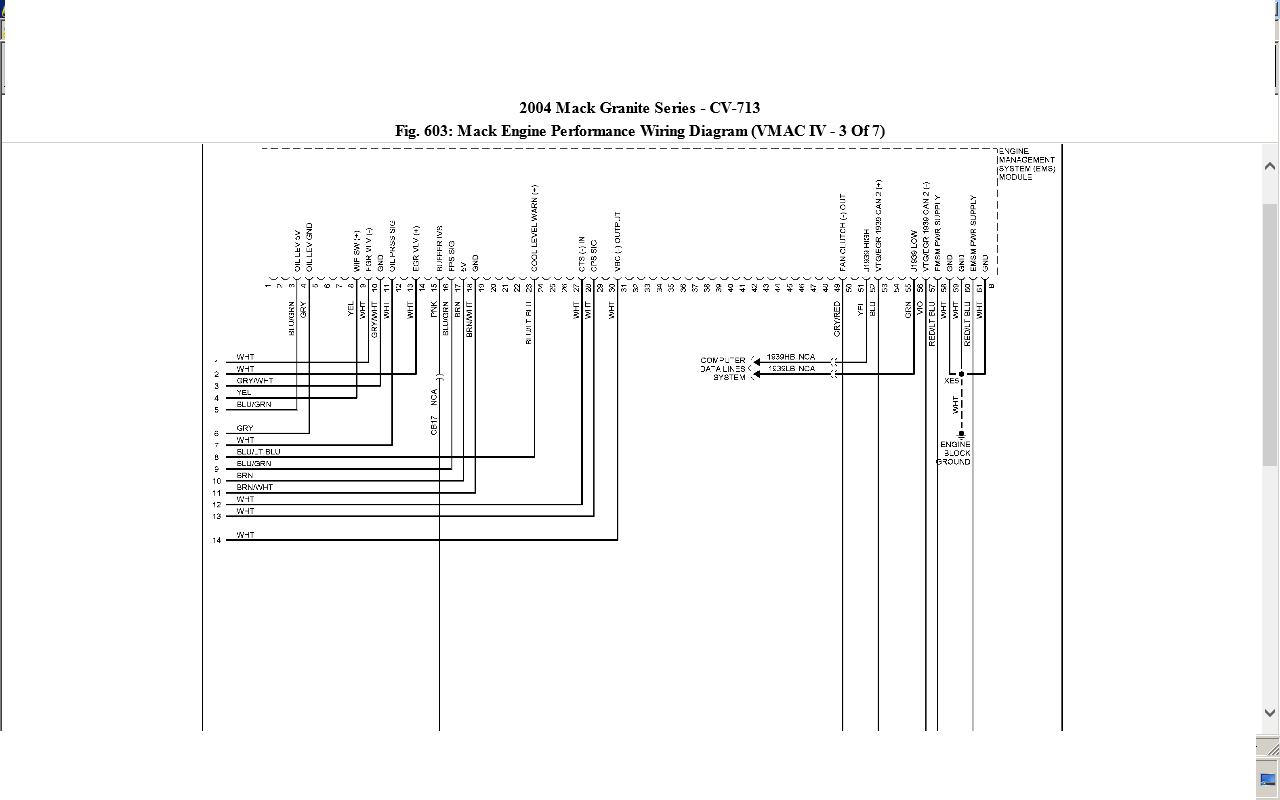 04 mack cv 713 ecm engine wiring diagram rh justanswer com 2007 mack  granite wiring diagram