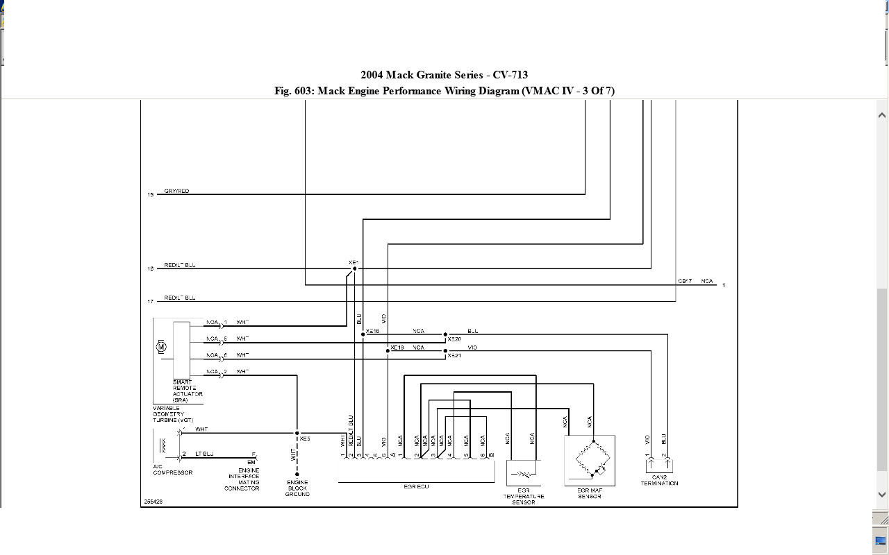 04 mack cv 713 ecm engine wiring diagram mack truck air conditioning full size image