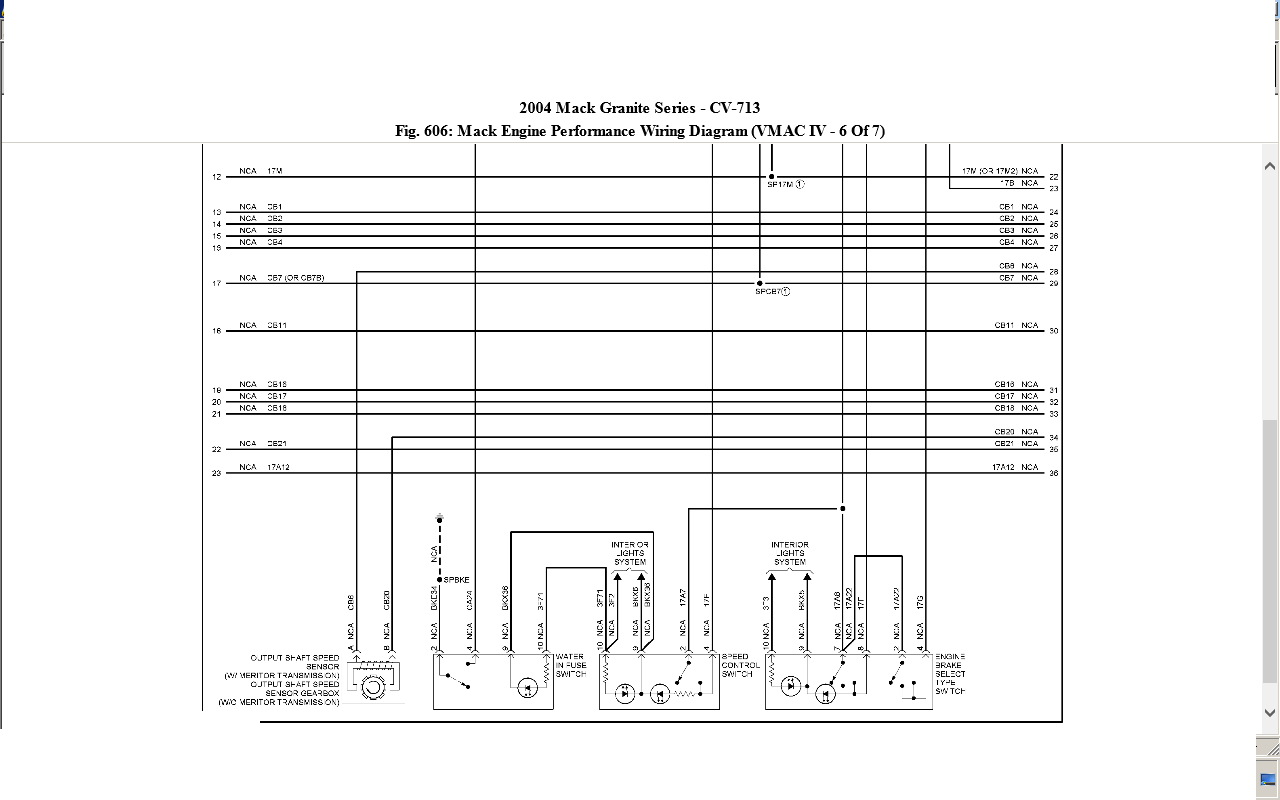 04 Mack Cv 713 Ecm Engine Wiring Diagram 2005 Truck Full Size Image