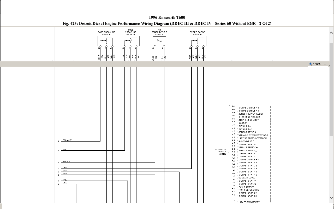 1993 Kenworth T600 Cab Wiring Diagram