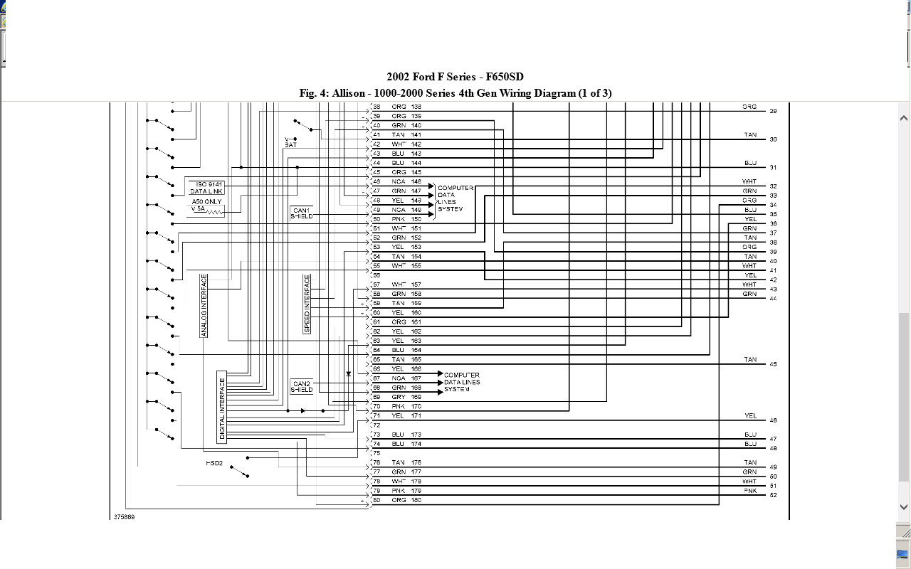 My 2002 Ford F650 With A Cat 3126 Will Not Shift Into 3 4 5 And Wiring Diagram Those Are All The Diagrams For Your Tranny Wether It Is 4th Or Pre Generation