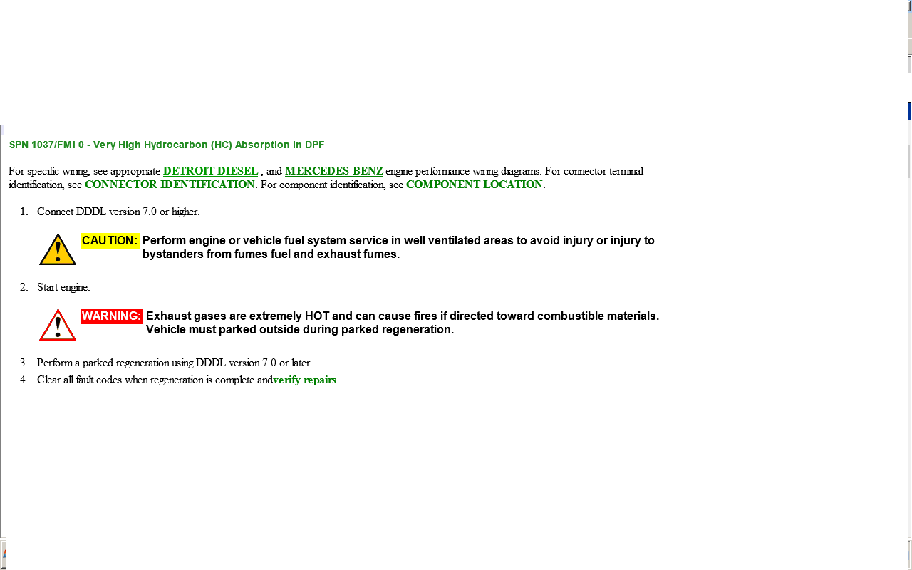 Dd15 Engine fault codes