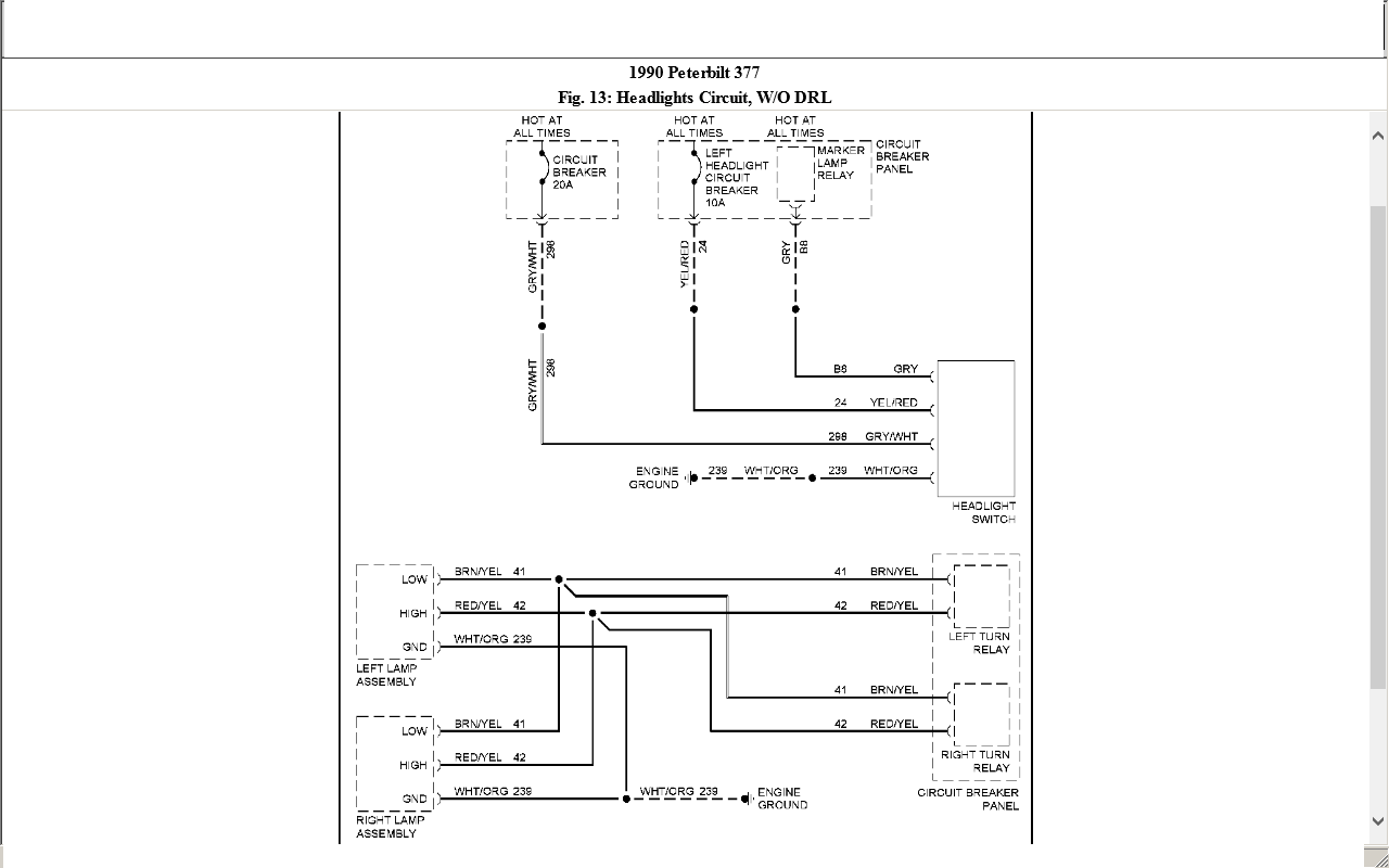 I Am Looking For A Wiring Diagram For A 1987 Pete 377  Any