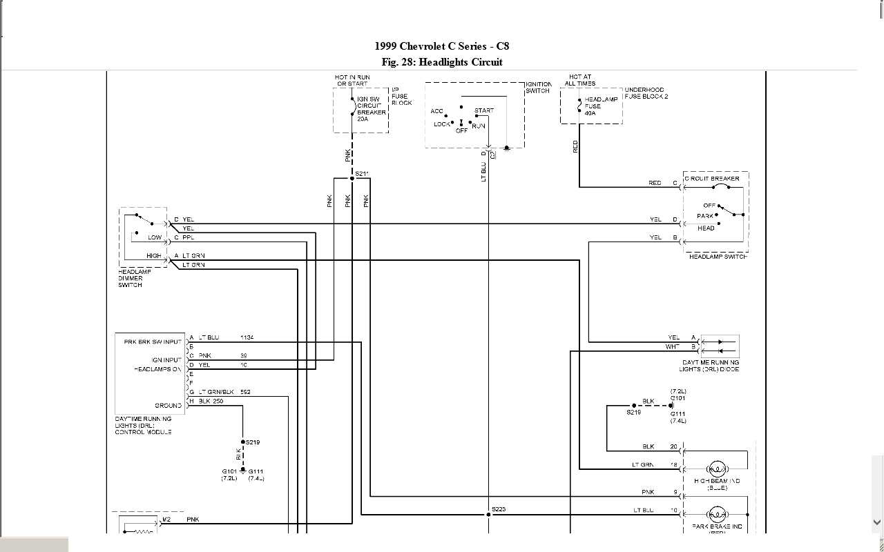C8500 Wiring Diagram Auto Electrical Gmc T7500 Diagrams 2004 I Have A 1999 Chevy The Headlights Dont Work How