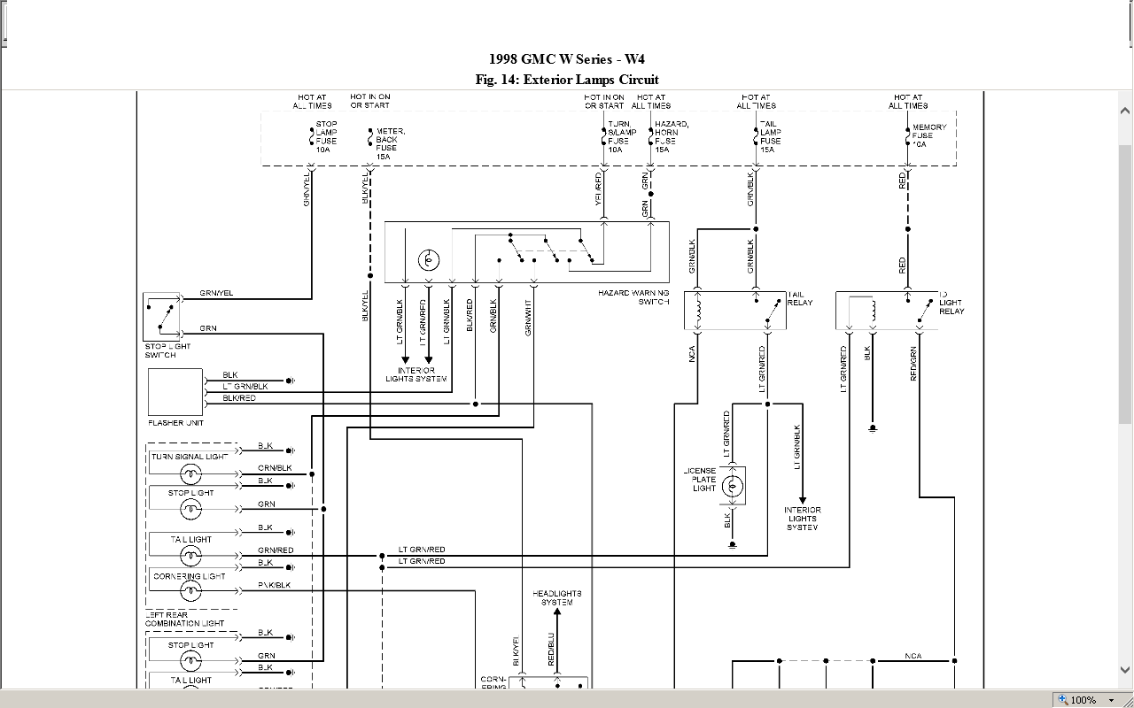 Looking for wiring diagram for a 98 gmc 4500(Isuzu npr) back end of truck  taillights, turn signals JustAnswer