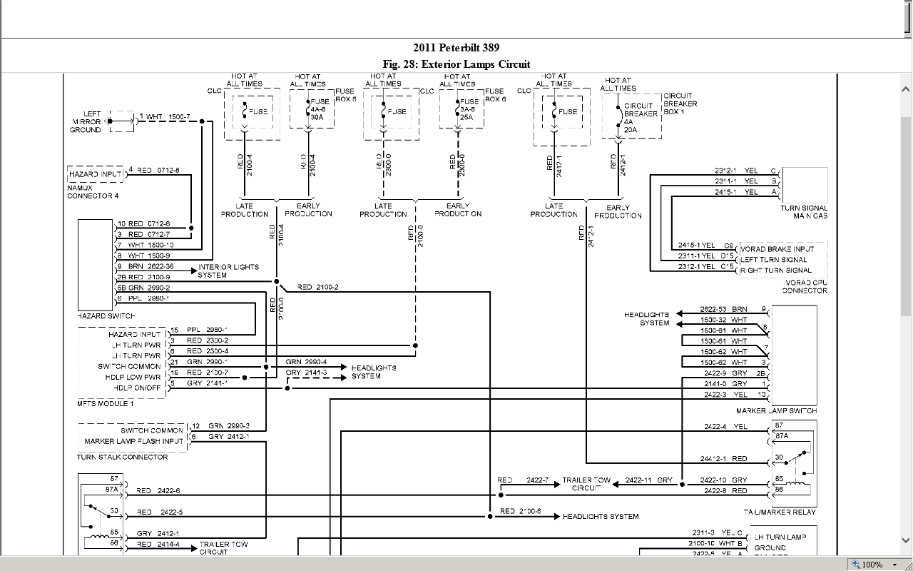 2013 Peterbilt 386 Wiring Diagrams  Peterbilt 386