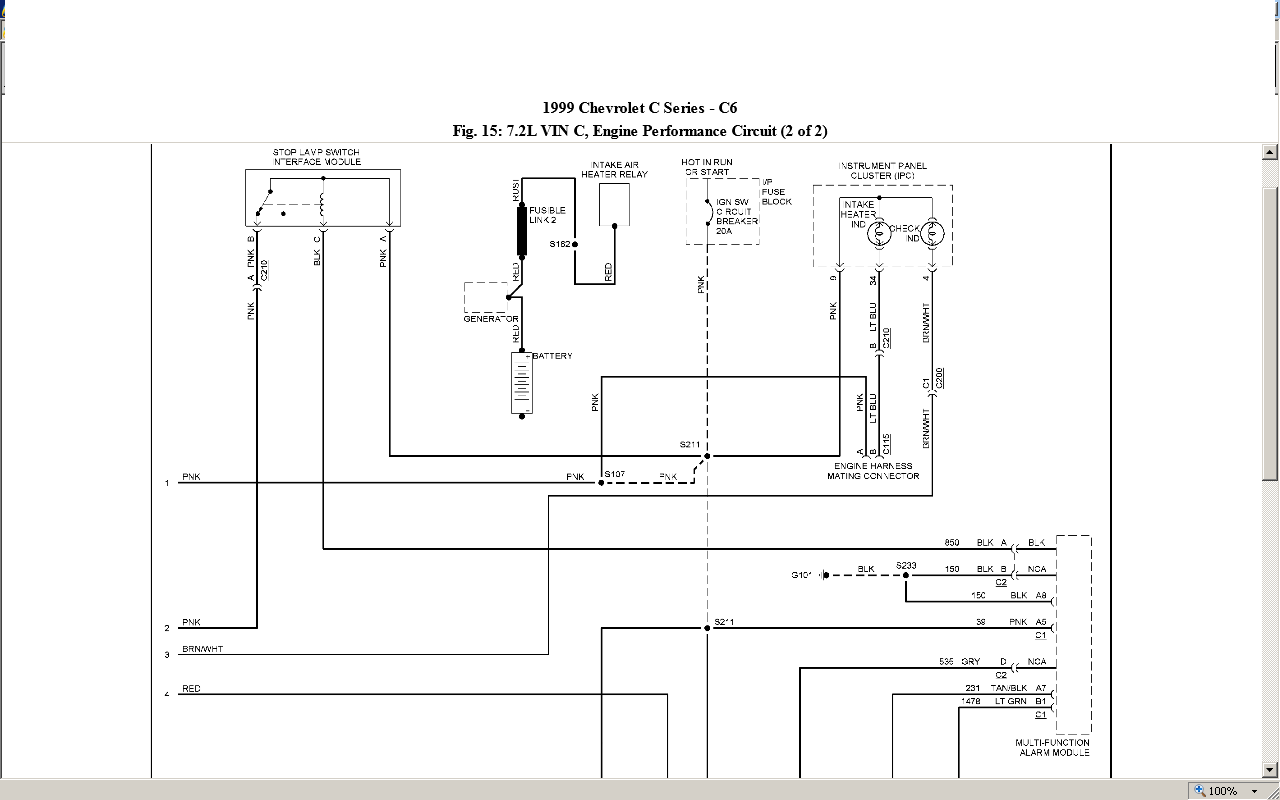 Need Wiring Schematics For 1999 Chevy C6500 Kodiak With